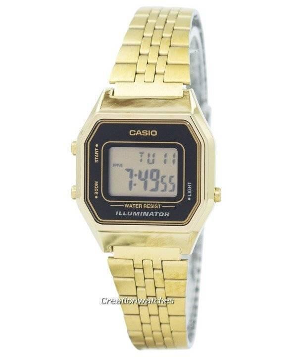 Casio ψηφιακή χαλαζία από ανοξείδωτο χάλυβα Illuminator LA680WGA-1DF  LA680WGA-1 γυναικείο ρολόι a52e9409293