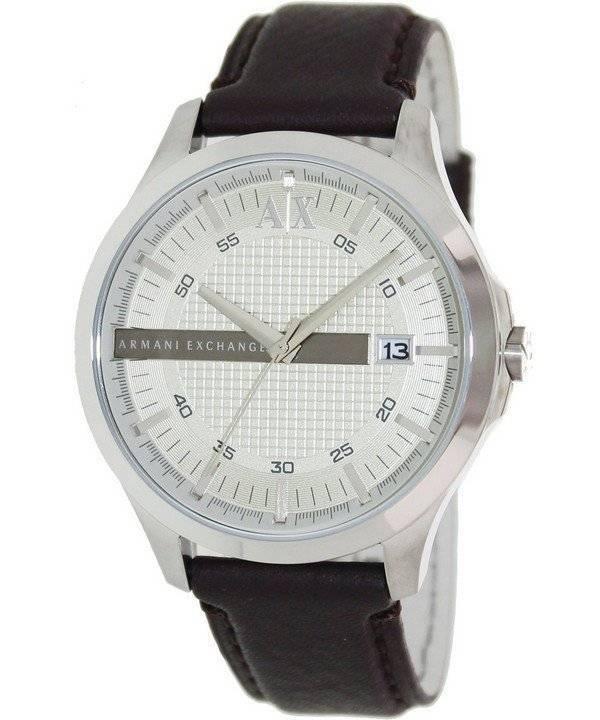 396288ec8680 Armani Exchange Dial de plata cuero correa AX2100 reloj de hombres