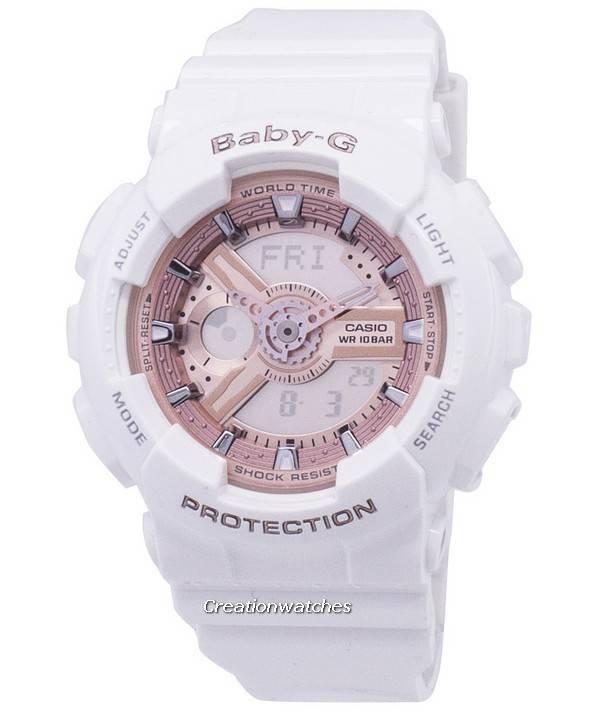 ff89649f677d Casio Baby-g mundo tiempo Analógico Digital BA-110-7A1 Watch de Women es