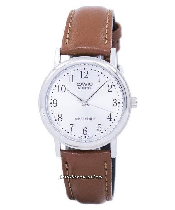 Casio reloj Negro Caballero Hombre Piel Reloj Env Mtpv007 PN80nOXwk