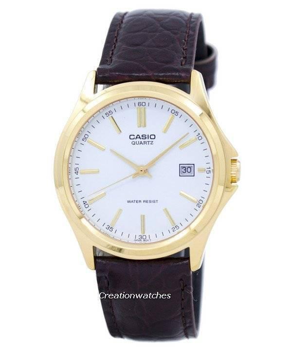 8491151f19c4 Reloj Casio cuarzo analógico Dial blanco dorado MTP-1183Q-7ADF MTP-1183Q 7A