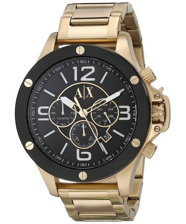 montre or armani homme