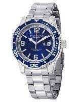 Stuhrling Original Regatta Aquadiver 200M Swiss Quartz Blue Dial 415.02 Men's Watch