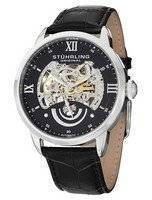 Stuhrling Original Executive II Automatic Black Skeleton Dial 574.02 Men's Watch