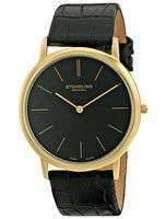 Stuhrling Original Ascot Swiss Quartz Ultra Thin Black Dial 601.33351 Men's Watch