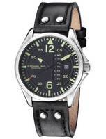 Stuhrling Original Aviator Quartz Day And Date 699.01 Men's Watch