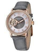 Stuhrling Original Vogue Automatic Grey Leather Strap 710.04 Women's Watch