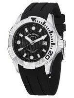 Stuhrling Original Aqua Diver Manta Ray Swiss Quartz Black Dial 718.02 Men's Watch