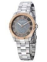 Stuhrling Original Audrey Shimmer Swiss Quartz Rose Tone 743.04 Women's Watch