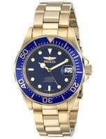 Invicta Pro Diver 200M Gold Tone Blue Dial 8930 Men's Watch