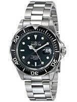 Relógio Invicta Pro Diver 200m Quartz mostrador preto INV9307/9307 dos homens