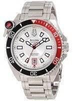 Bulova Precisionist 300M Silver Dial 98B167 Men's Watch
