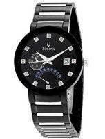 Bulova Diamond Accented Black Dial Bracelet 98D109