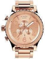 Nixon Quartz Chronograph All Rose Gold 300M A083-897-00 Men's Watch