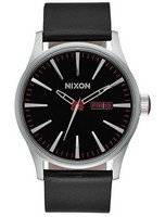 Nixon Quartz Sentry Black Leather A105-000-00 Men's Watch