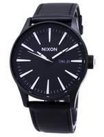 Nixon Quartz Sentry Black Leather A105-005-00 Men's Watch