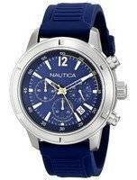 Nautica Chronograph Blue Dial Silicone Strap A17652G Men's Watch
