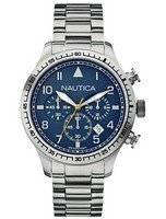 Nautica Chronograph Blue Dial Stainless Steel A18713G Men's Watch