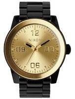 Nixon Corporal SS Quartz Black IP Gold Dial A346-010-00 Men's Watch