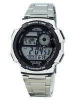 Casio Youth Digital World Time AE-1000WD-1AV AE1000WD-1AV Men's Watch