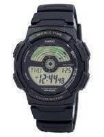 Casio Youth Illuminator World Time World Map AE-1100W-1BV AE1100W-1BV Men's Watch