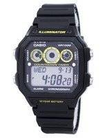 Casio Youth Series Illuminator Chronograph Alarm AE-1300WH-1AV Men's Watch