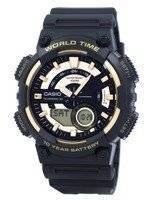 Casio Youth Series Telememo 30 World Time Alarm AEQ-110BW-9AV Men's Watch