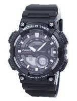 Casio Telememo 30 World Time Alarm Analog Digital AEQ-110W-1AV AEQ110W-1AV Men's Watch