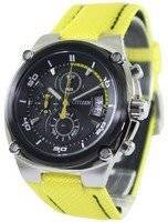 Citizen Chronograph Sports Yellow Nylon Band AN3455-30E Men's Watch