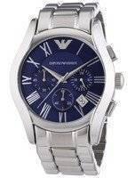 Emporio Armani Classic Chronograph Blue Dial AR1635 Men's Watch