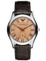 Emporio Armani Classic Amber Dial Brown Leather AR1709 Men's Watch