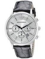 Emporio Armani Classic Chronograph Silver Dial AR2432 Men's Watch