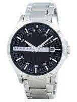 Armani Exchange Black Dial Stainless Steel AX2103 Men's Watch
