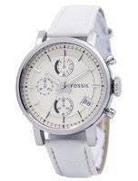 Fossil Original BoyFriend Chronograph Stainless Steel C181018-WHT Women's Watch