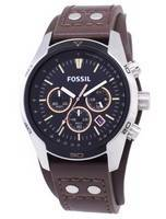 Fossil Coachman Chronograph Black Dial Brown Leather CH2891 Men's Watch