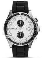 Fossil Wakefield Chronograph Black Silicone Strap CH2933 Men's Watch