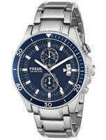 Fossil Wakefield Chronograph Blue Dial Stainless Steel CH2937 Men's Watch