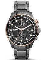 Fossil Decker Chronograph Smoke Tone Black Dial CH2948 Men's Watch