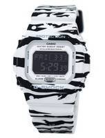 Casio G-Shock Digital Alarm Chrono Tiger Camouflage DW-D5600BW-7 Men's Watch