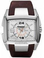 Diesel Bugout Silver Dial Brown Leather WR100M DZ1273 Men's Watch