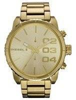 Diesel Double Down Gold Dial Stainless Steel DZ4268 Men's Watch