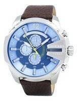 Relógio diesel Mega chefe Chronograph Blue Dial DZ4281 masculino