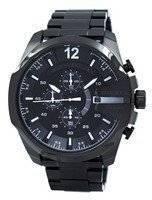 Relógio diesel Mega chefe cronógrafo de quartzo cinza Dial preto IP DZ4283 dos homens