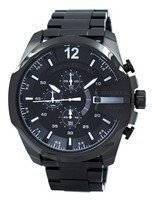 Diesel Mega Chief Quartz Chronograph Grey Dial Black IP DZ4283 Men's Watch