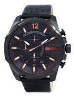 Diesel Mega Chief Chronograph Black Dial 100M DZ4291 Men's Watch