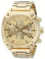 Diesel Overflow Quartz Chronograph Champagne Dial Gold-tone DZ4299 Men's Watch