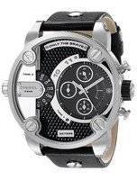 Diesel Little Daddy Chronograph Dual Time Black Dial DZ7256 Men's Watch