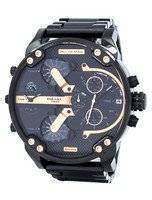 Diesel Mr. Daddy 2.0 Oversized Chronograph Black Dial DZ7312 Men's Watch