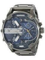 Diesel Mr. Daddy 2.0 Blue Dial Black Ion-Plated DZ7331 Men's Watch