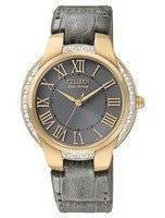Citizen Ciena Diamonds Eco-Drive Gold Tone EM0093-08H Women's Watch